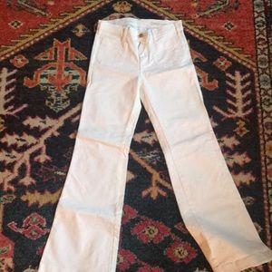 White denim Gap 1969 wide leg jeans